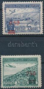 Albania stamp Airmail set with red overprint MNH 1952 Mi 521-522 WS190042