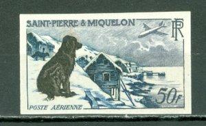 ST.PIERRE & MIQUELON 1957  IMPERF. #C21...MINT LIGHT H
