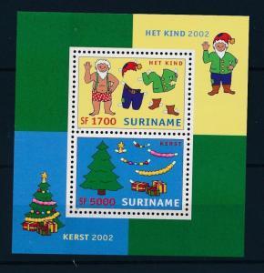 Suriname MNH S/S 1288 Christmas Santa Claus 2002