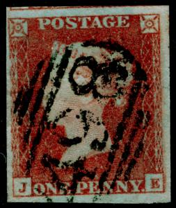 SG8, 1d red-brown, FINE USED. JE