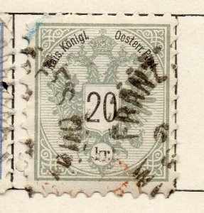 Austria 1883 Early Issue Fine Used 20kr. NW-11545