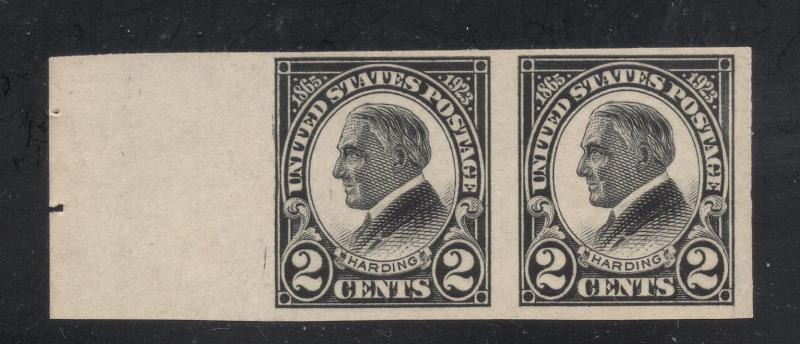 US#611 Black - Margin Pair - Unused - O. G. - N. H.