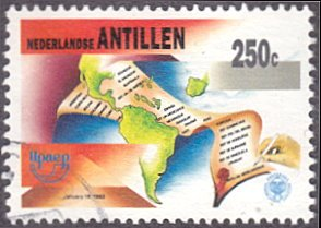 Netherlands Antilles # 701 used ~ 250¢ Central and South America, Documents