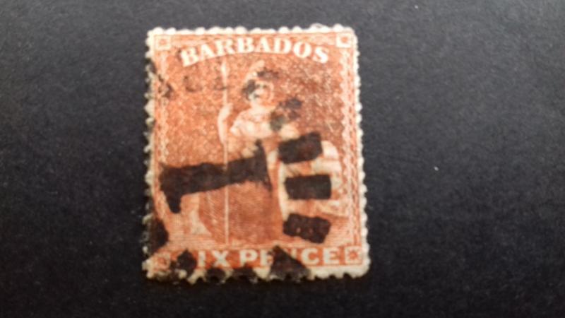 Barbados Queen Victoria Used