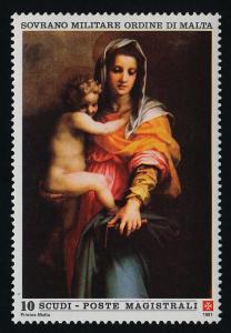 Sovereign Order of Malta 391 MNH Art, Christmas, Madonna & Child