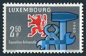 Luxembourg 361,MNH.Michel 622. Exposition of Craftsmanship,1960.Heraldic Lion,