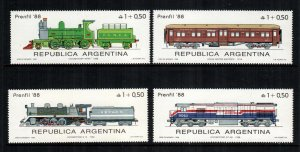 Argentina MNH B123-6 Locomotives 1988 CHOO!!!! CHOO!!!!