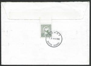 GB LUNDY 1983 cover to Reigate, 19p Puffin on reverse......................48703