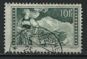 Switzerlsnd 1930 10 francs green used