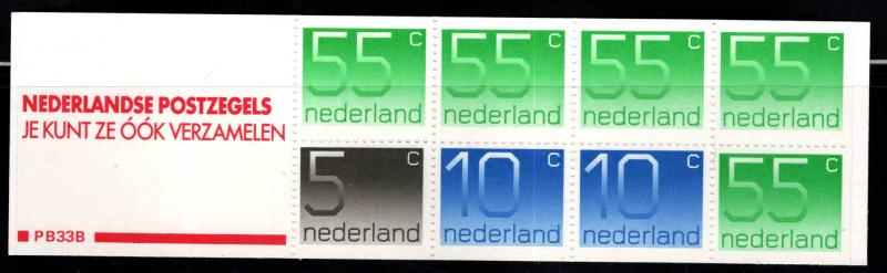 Netherlands Scott 536g Booklet 1986 with Red label