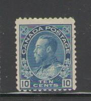 Canada Sc 117 1922 10 cent blue George V Admiral issue stamp mint