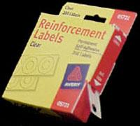 Round Hole Page Reinforcements Pkg 200 Clear, 03002