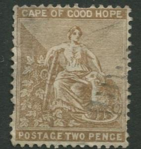 Cape of Good Hope - Scott 35 - Hope -1882 - Used - Single 2p Stamp
