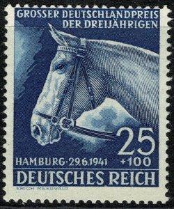 GERMANY 1941 72nd ANNIV HAMBURG DERBY 25pf+100pf BLUE MINT (NH) SG 767 P.14 FINE