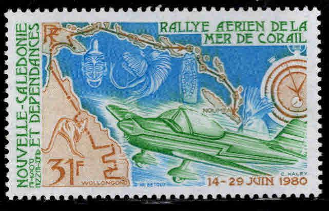 New Caledonia (NCE) Scott C164 MNH** Coral Seas map stamp