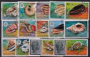 AITUTAKI 1974 Shells definitives set complete fine used....................17673