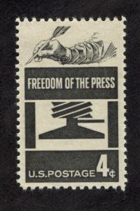 1119 Freedom Of The Press US Single Mint/nh (Free Shipping)