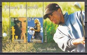 Gambia, 2003 Cinderella issue. Chess and Tennis s/sheet. ^