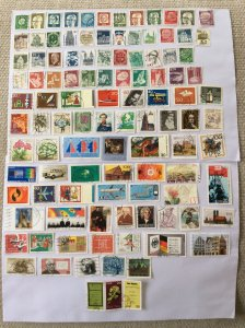 German 100+ stamps - Lot K