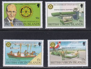 Virgin Islands # 796-799, Rotary 25th Anniversary, NH, 1/2 Cat.