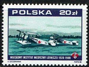 Poland Scott 2871 (SW 3168) MNH (1988) Institute for Air Medicine