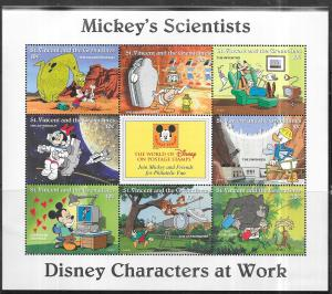 ST.VINCENT  Scott# 2247A-2253A Disney Characters (7) S/S (MNH) CV$90.00
