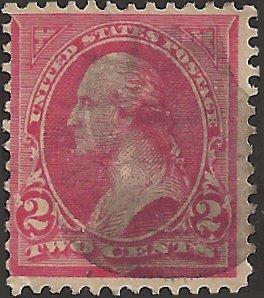 # 279bc Used Rose Carmine George Washington Cat $200.00