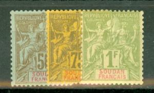 French Sudan 3-19 most mint (11, 15, 16 used) CV $370.50, scan shows only a few