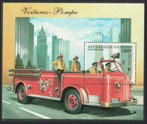 Benin Fire Engines MS SG#MS1711