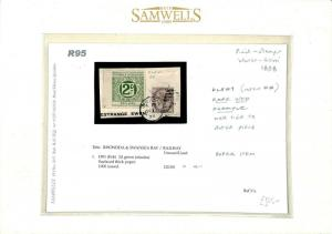 GB WALES RAILWAY LETTER STAMP *Rhondda & Swansea Bay Ry* First Issue 1898 R95