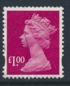 GB QE II Machin - SG Y1744   Used  £1 magenta 2 Bands