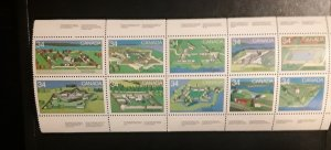 Canadian Forts II  #1050-1059 MNH booklet pane