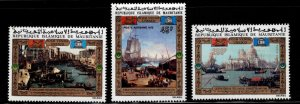 Mauritania Scott C118-C120 MH* Save Venice Artl stamp set