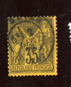 FRANCE #94A USED FVF Cat $35