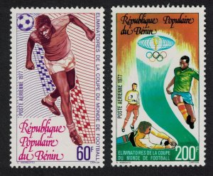 Benin World Football Cup Eliminators 2v 1977 MNH SG#658-659