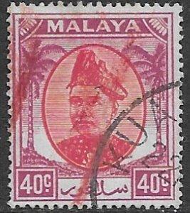 Malaysia - Selangor 90   1949   40  cent fine used