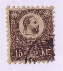 1871 HUNGARY SC 11A RARE COPPER BROWN USED SIGNED ON REVERSE MICHEL 12A F-VF
