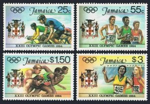 Jamaica 577-580,580a,MNH.Michel 585-588,Bl.23. Olympics Los Angeles-1984.Bicycle