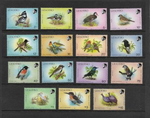BIRDS - LESOTHO #618-32  MNH