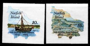 Norfolk Island Scott 185-186 MNH** self adhesive stamp set