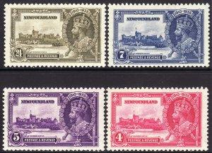 1935 Newfoundland KGV Silver Jubilee complete set MLH Sc# 226 / 229 CV $9.00