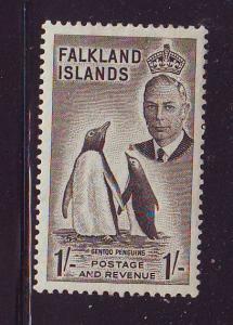 Falkland Islands Sc 115 1952 1/ G VI Penquin stamp mint