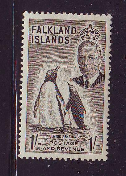 Falkland Islands Sc 115 1952 1/ G VI Penquin stamp mint