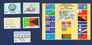 VANUATU - Scott 524-529 - FVF MNH - Independence 1990