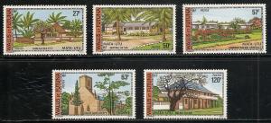 Wallis and Futuna Islands 200-4 1977 Buildings set MNH
