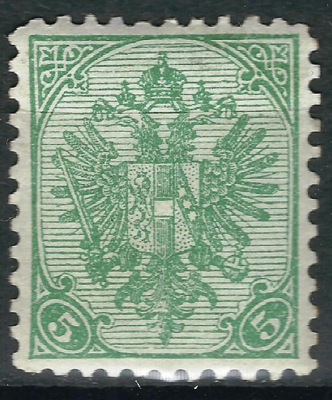 OLD AUSTRIA BOSNIA 1900. 5 heller THIN PAPER perf. 10,5  MINT NEVER HINGED