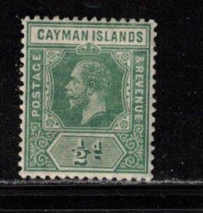 CAYMAN ISLANDS Scott # 33 MH - KGV Definitive