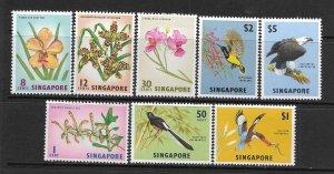 SINGAPORE, 62-69, MNH, FLOWERS AND BIRDS