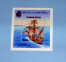 Bahamas - 729, MNH S/S. Discovery of America. SCV - $14.00