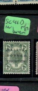 MALAYA KEDAH   (PP2204B)  MBE 2C SG 41D   CUT PFS    MOG